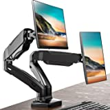 FITUEYES Dual Monitor Stand Gas Spring Rissr Desk Mount Swivel Tilt and Adjustable fit 13-27 inch Screen | VESA 75x75…
