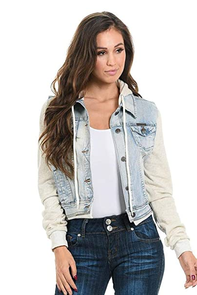 Amazon.com: Sweet Look – Chaqueta Denim para mujer estilo ...