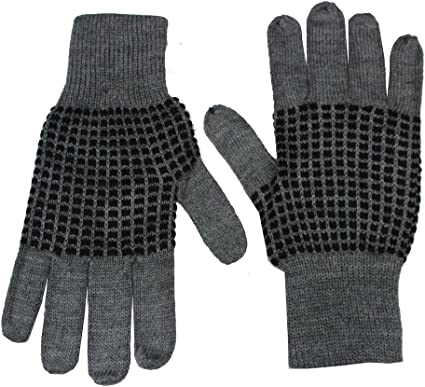 Romano Mens Black Woollen Winter Gloves