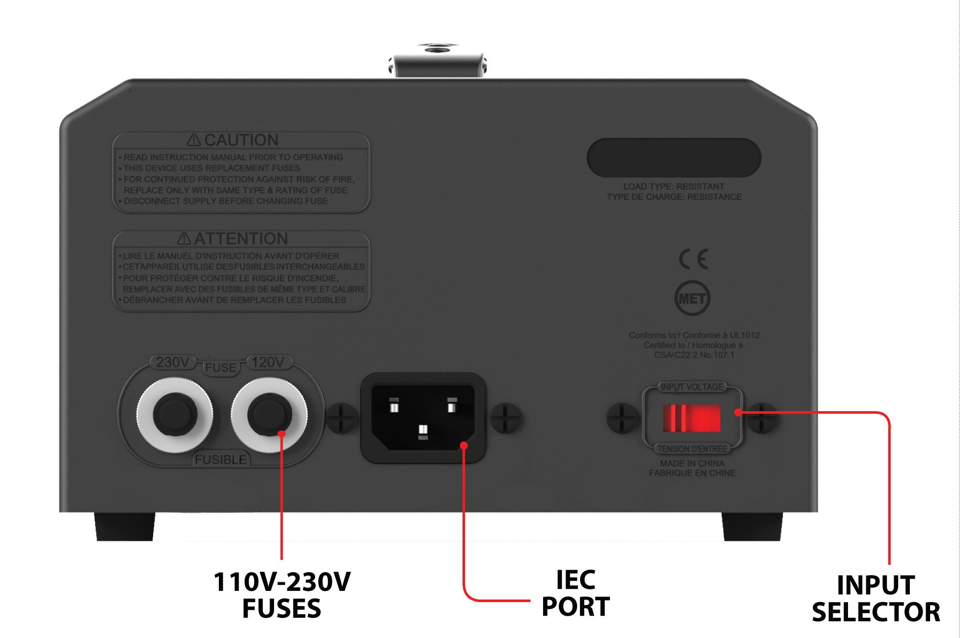 KRIËGER 1700 Watt Voltage Transformer Step up/down 120V / 230V AC outlet American European Converter 50 60 Hz outlets 2.1A USB - IEC German Schuko Nema 5-15P cord connection MET certified under UL CSA by KRIEGER