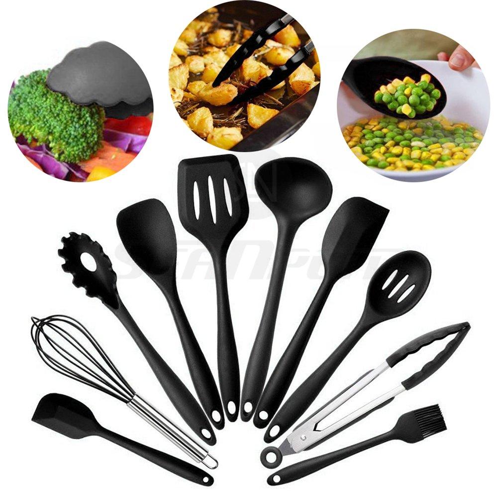 Küchenutensilien aus Silikon Set (10 PCS), & BPA frei, die von ...
