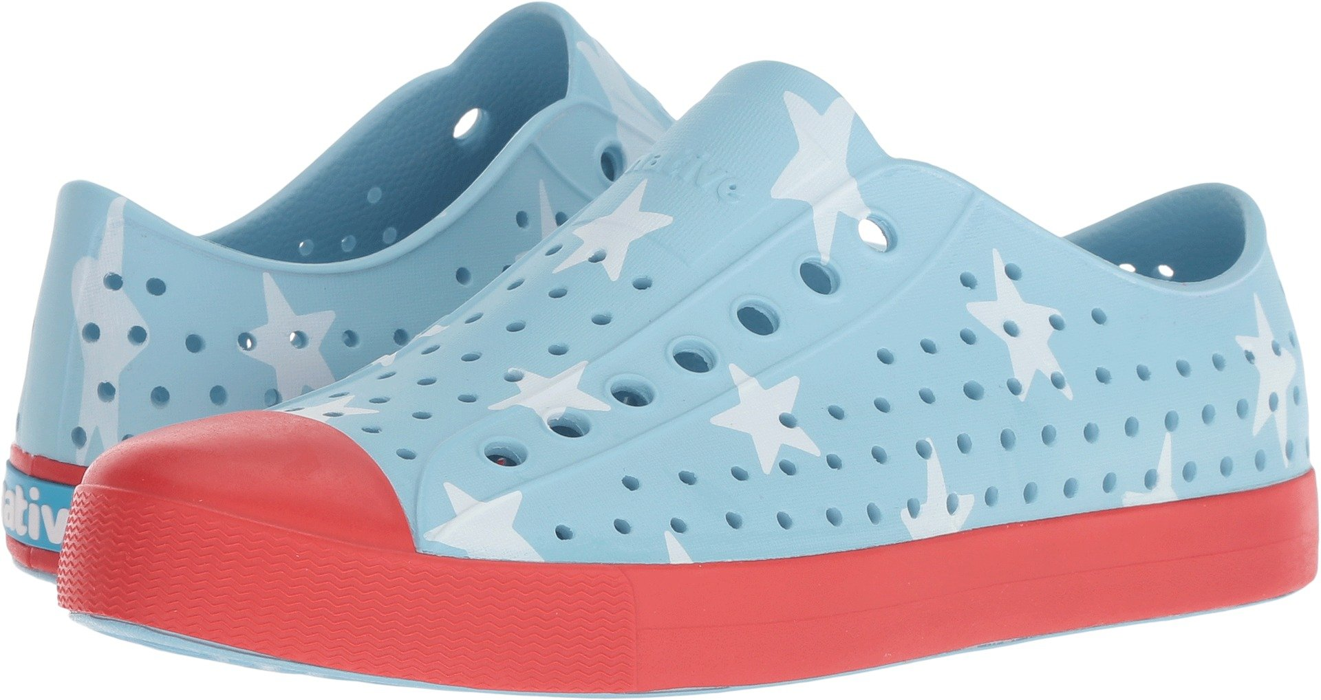 Native Shoes Jefferson Water Shoe, Sky Blue/Torch red/Big Star, 9 Men's M US