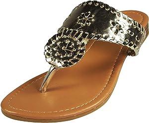 900233581467 Pierre Dumas Women s Rosetta-1 Slip-on Sandals