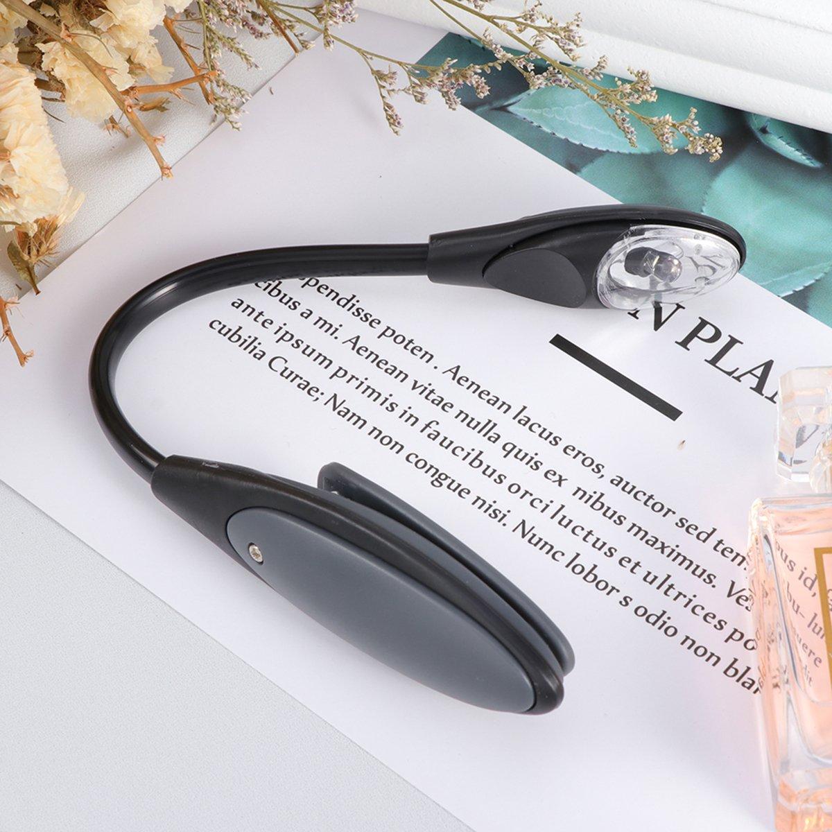 mit guten Augenschutz Helligkeit grau stilvolle flexible tragbare Reise Buch Leselicht LEDMOMO Led Clip Leselicht