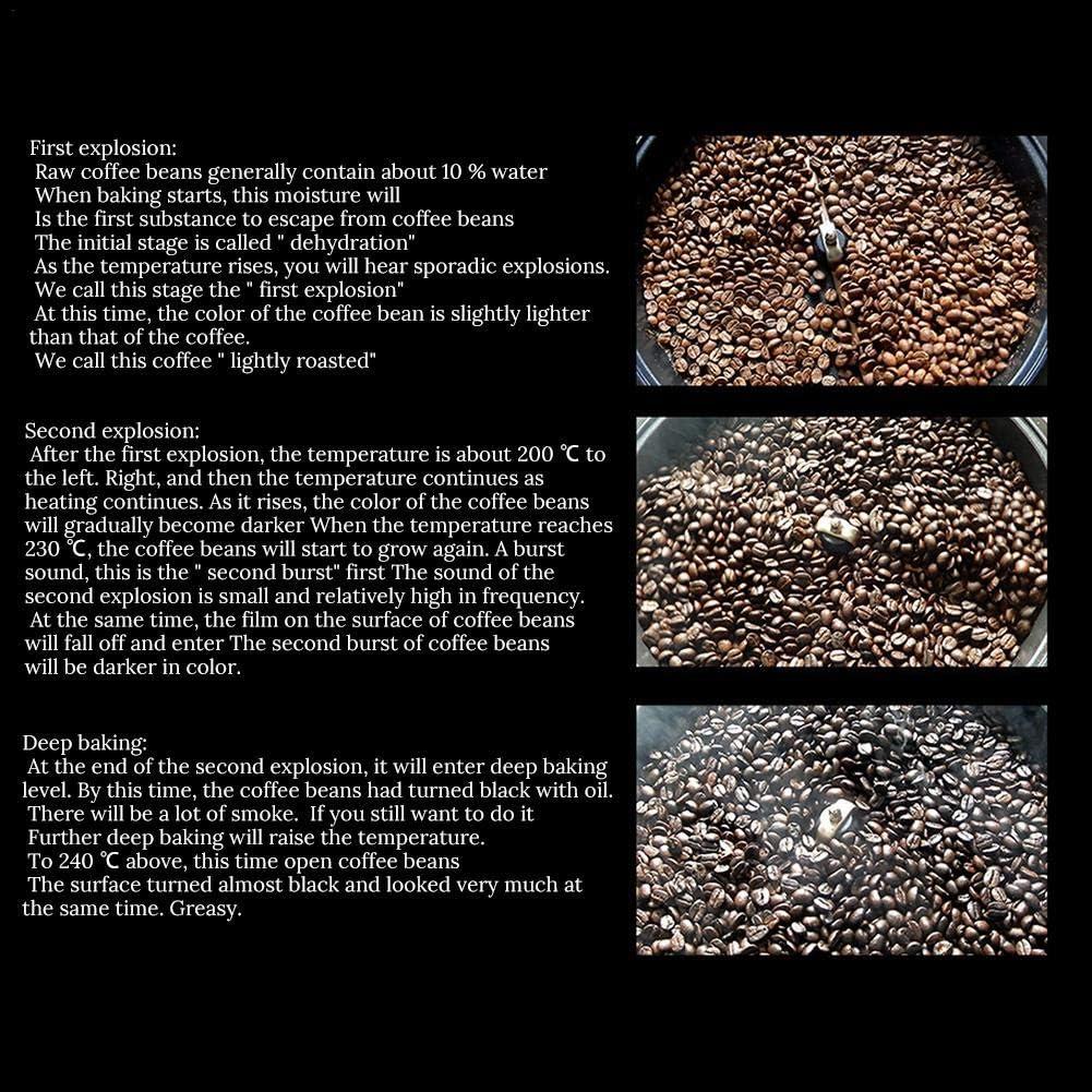 wonderday Tostador de caf/é 220V Hogar Peque/ño Tostador de Granos de caf/é M/áquina tostadora de caf/é el/éctrica sin Olla