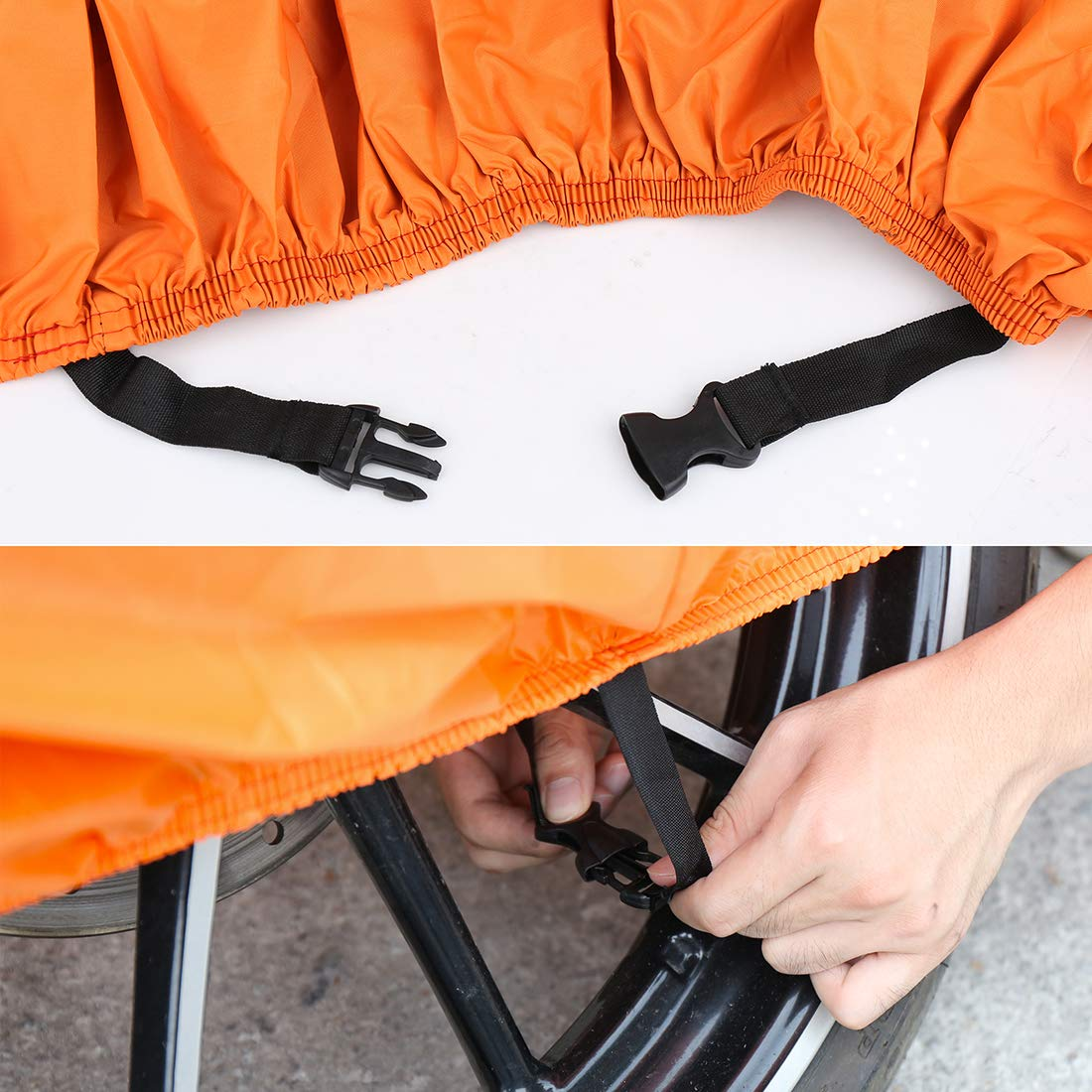 X AUTOHAUX L Motorcycle Cover 210D Oxford Outdoor Waterproof Rain Dust UV Protector