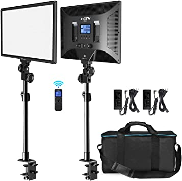 IVISII Key Light I50, Professional LED Light Panel Kit with Wireless Remote