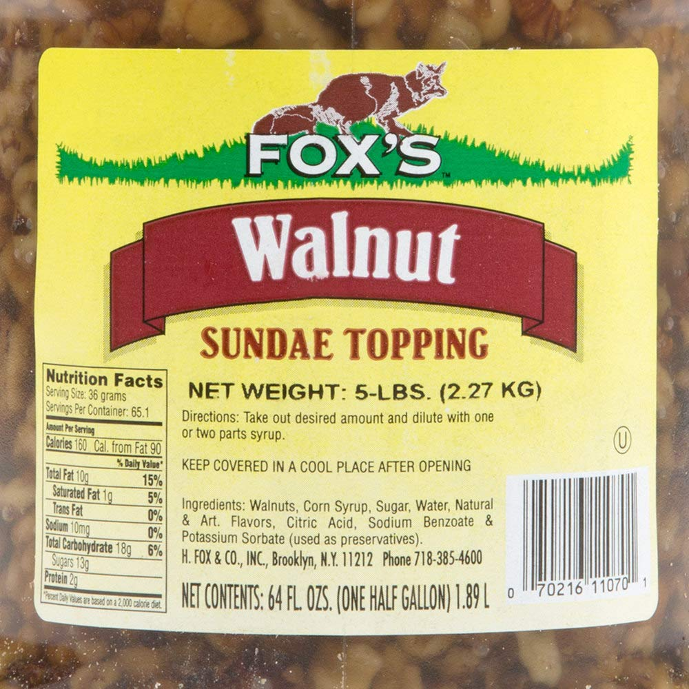 TableTop King 1/2 Gallon Walnut Ice Cream Sundae Topping - 6/Case by TableTop King (Image #1)