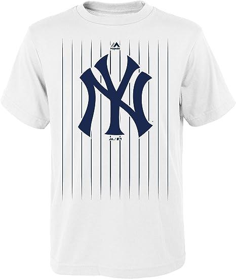 OuterStuff Gary Sánchez New York Yankees #24 MLB - Camiseta para jóvenes con diseño de rayas, color blanco, Jovenetud L , Blanco: Amazon.es: Deportes y aire libre