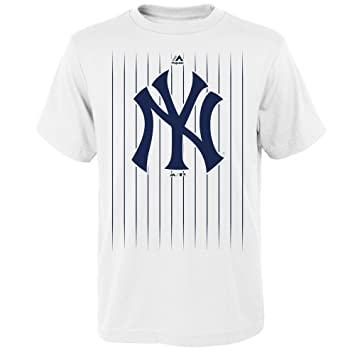 64f2ea7e8 Outerstuff Gary Sanchez New York Yankees #24 MLB Youth Pinstripe Player  T-shirt White