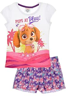 Nickelodeon Paw Patrol Girls Summer Outfit Set Short Sleeve Top Shorts Cotton