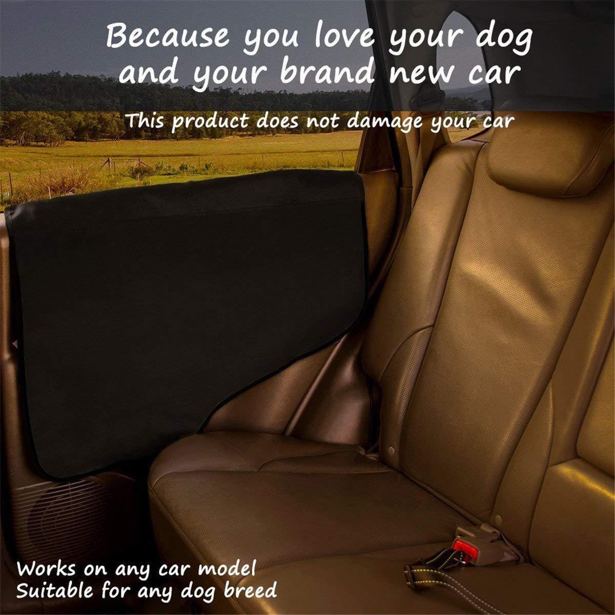 convient pour tous les Baselife pour animal domestique Porte de voiture Capot /étanche Polyester Film de protection pour si/ège arri/ère anti-rayures et lavable en machine portes s/ûr pour les chiens