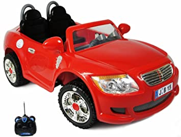 storm red 2 seater coupe kids electric car