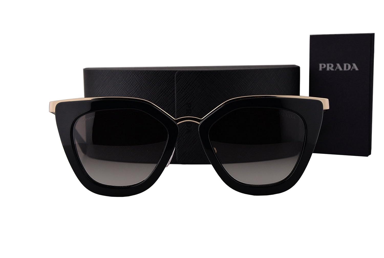 d7202da65b Amazon.com  Prada PR53SS Sunglasses Black w Gray Gradient Lens 1AB0A7 SPR  53S  Clothing