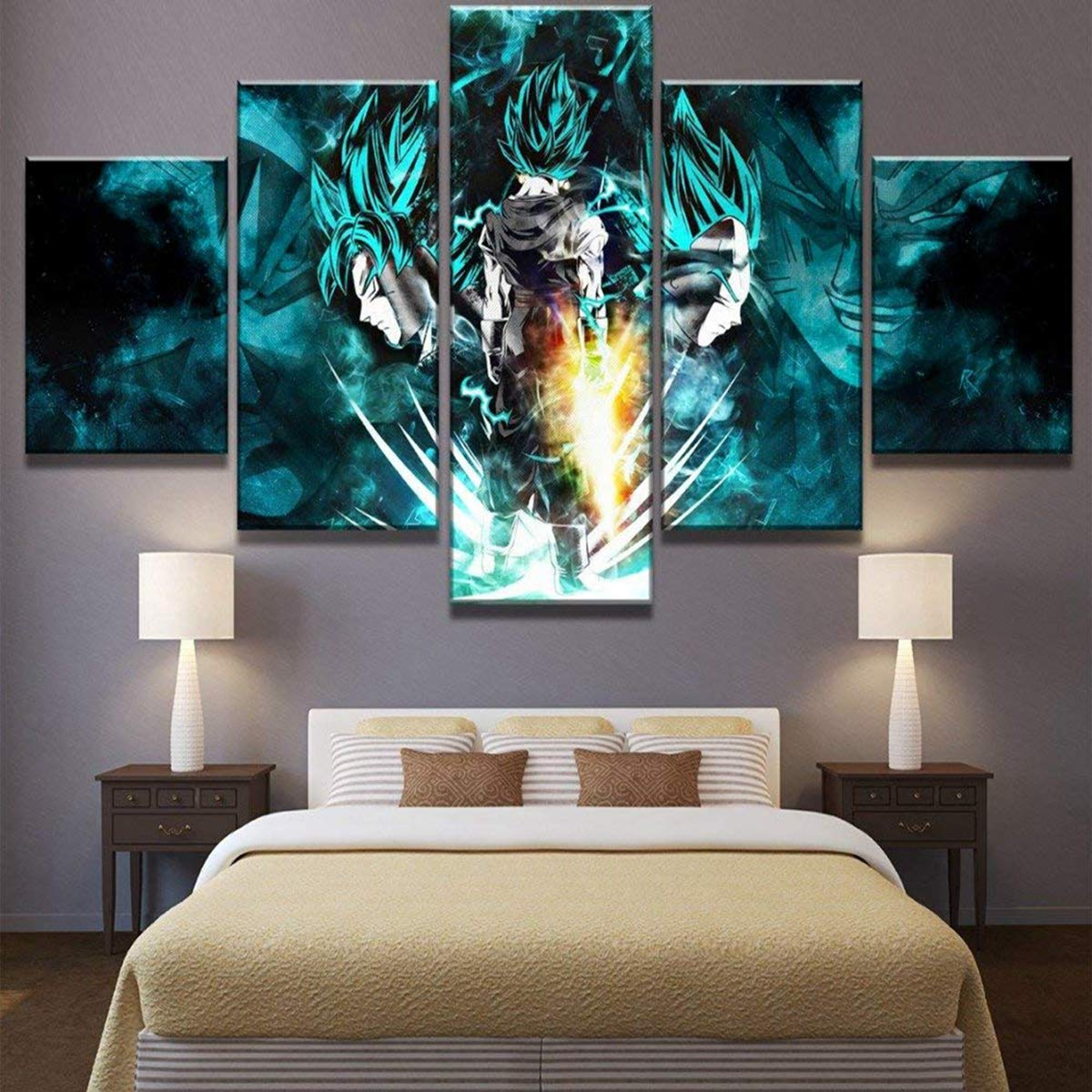 Amazon com natvva 5 pieces paintings anime posters wall art