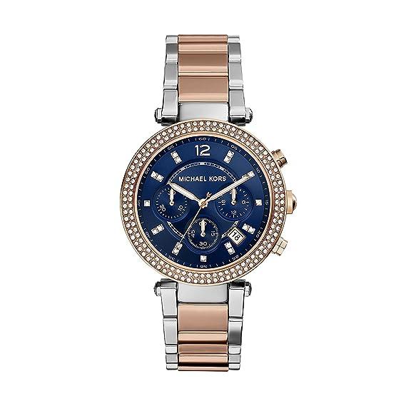 Michael Kors Reloj analogico para Mujer de Cuarzo con Correa en Acero Inoxidable MK6141: Michael Kors: Amazon.es: Relojes