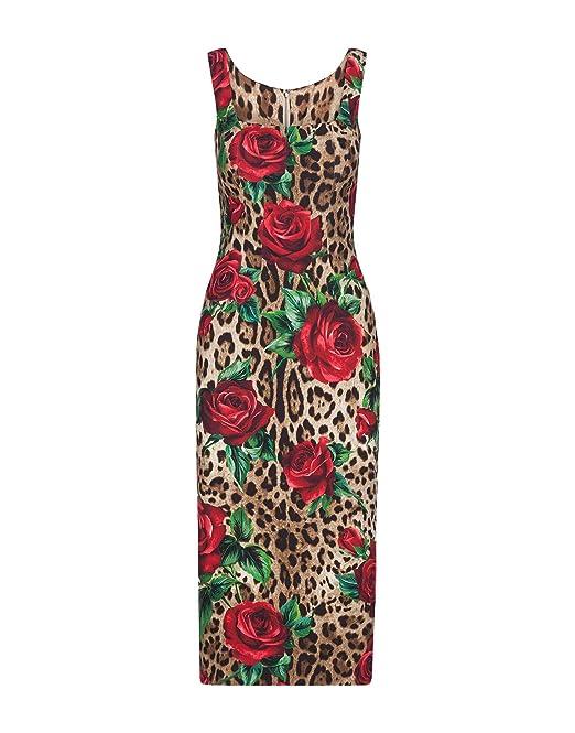 Dolce E Gabbana Vestito Donna F6B4ZTFSRKKHKIRS Viscosa Rosso  Amazon.it   Abbigliamento ce5b80d9e94