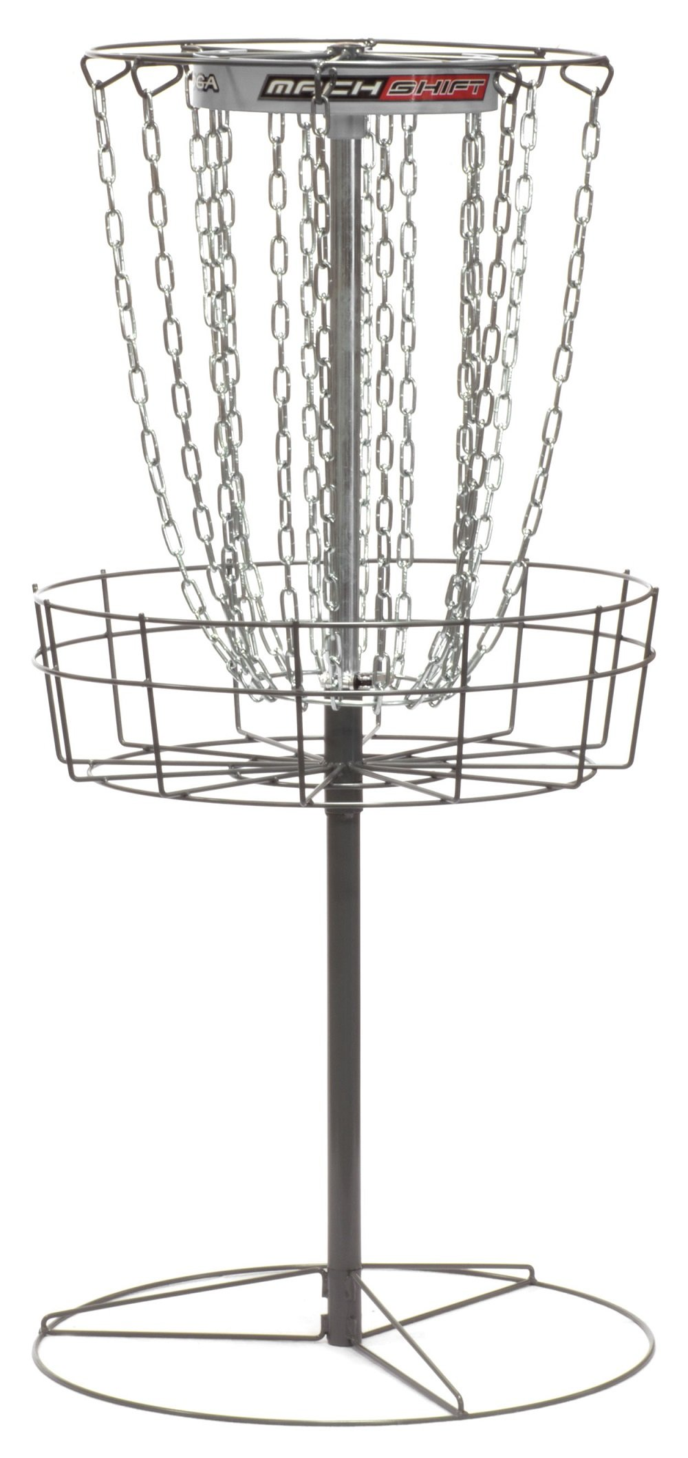 DGA Mach Shift 3-in-1 16 Chain Portable Practice Disc Golf Basket - White