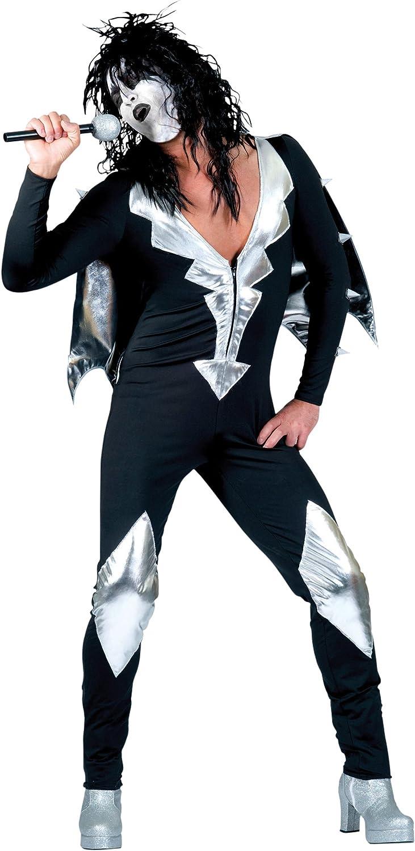 Glamorous - Disfraz de rockero para hombre, talla UK 38 (AC124A ...