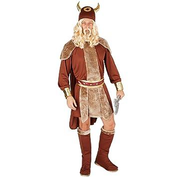 dressforfun Disfraz para Hombre Jefe vikingo | Atuendo salvaje con capa | Incl. botas +