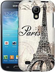 Samsung Galaxy S4 Mini Case, Slim Fit Snap On Cover by Trek Vintage Paris Case