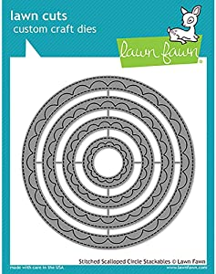 Lawn Fawn Dies - Outside In Stitched Scalloped Circle Stackables (LF1504)