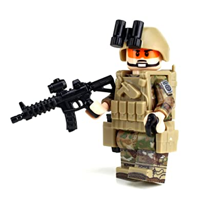 Battle Brick Army OCP 82nd Airborne Custom Minifigure: Toys & Games