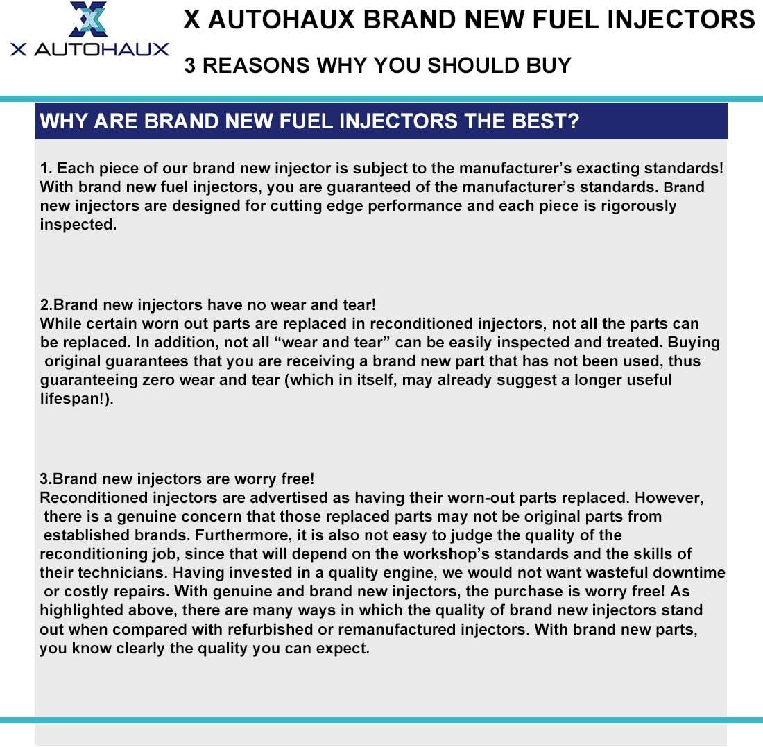 X AUTOHAUX 4 Pcs 550CC 195500-3910 Fuel Injectors for Forester Subrau STI WRX 16611-AA510 16611-AA370