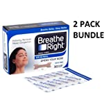 Breathe Right Nasal Strips Natural Regular 30 *2 PACKS*