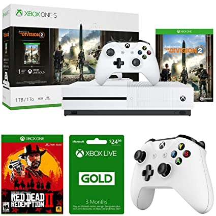 Amazon com: Microsoft Xbox One S 1TB Console w/Tom Clancy's The