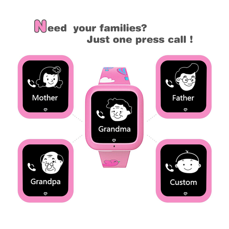 Anti Relojes Gps Tracker Perdidos Sos Teléfono Pulsera Para Inteligentes De BebésNiñosNiñasrosa Smartwatch Reloj MisafesNiños kiuZTPOX