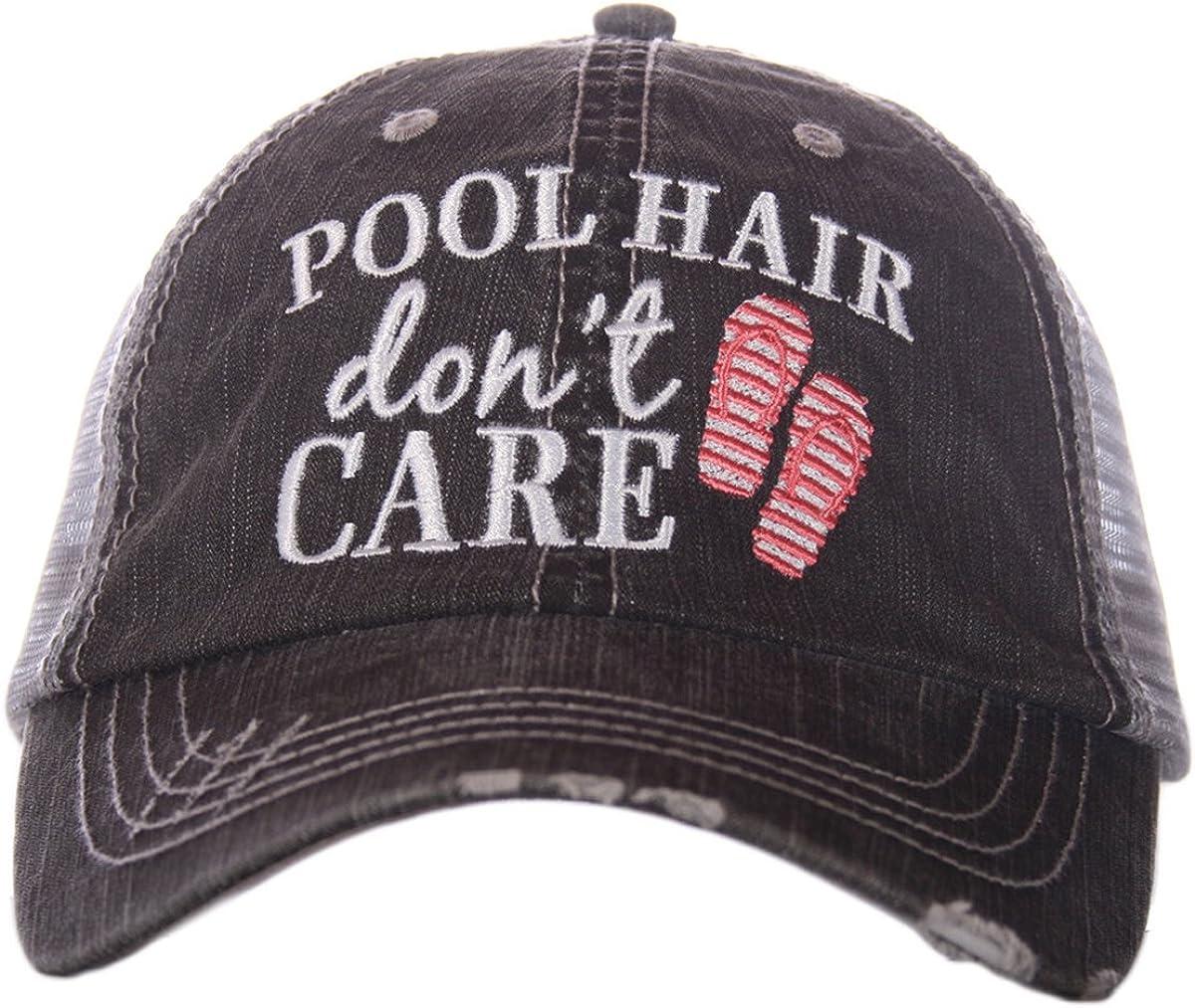 Pool Hair Don't Care Women's Trucker Hat Cap by Katydid