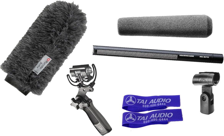 Sennheiser MKE600 Shotgun Microphone Bundle With Rycote Softie Rycote Pistol Grip Shock Mount /& 2 Cable Straps