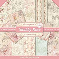 """Stamperia International KFT Double-Sided Paper Pad-Shabby Rose, Multicoloured, 30.5 x 30.5 (12"""" x 12"""")"""