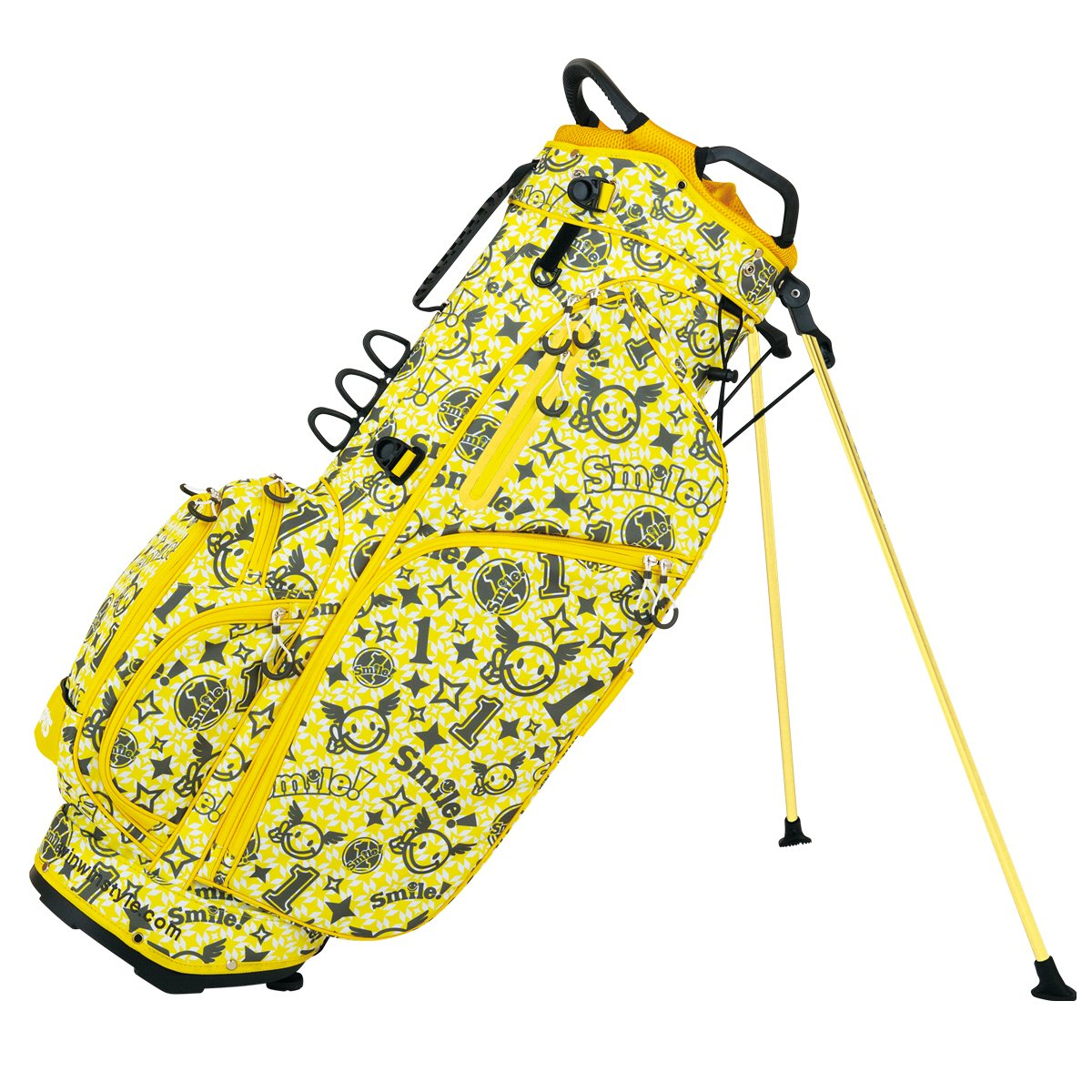 WINWIN STYLE(ウィンウィンスタイル) WINWIN キャディーバッグ PS SPORTS SMILE No.1 Light Weight SMILE Stand Stand Bag 9.0型 47インチ対応 ユニセックス CB-905 イエロー デザイン:総プリント加工 B07B4F8W7V, SOLT AND PEPPER:9dfd4b7c --- kapapa.site
