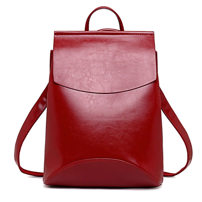 Fashion Women Backpack Youth Vintage Leather Backpacks for Teenage Girls Female School Bag