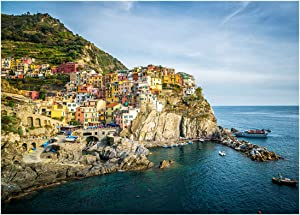"YOUNGTION 1000 Piece Jigsaw Puzzles for Adults, Cinque Terre Manarola Puzzle Game Toy for Teens Family, 27.6""x19.7"""