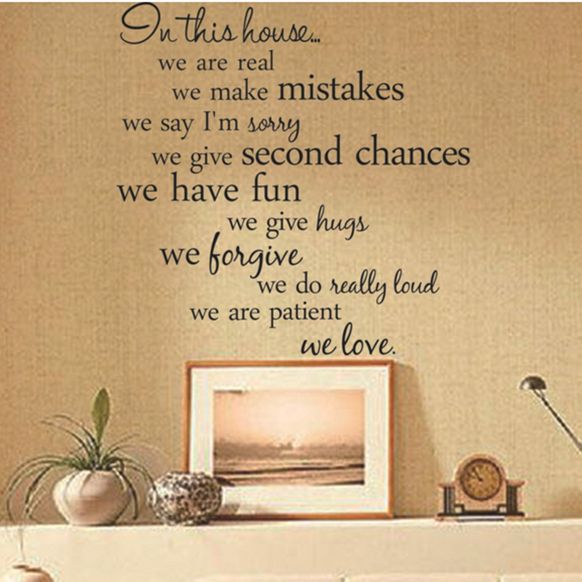 Amazon.com: In This House Wall Decals Stickers, Alphabet 3D Home ...