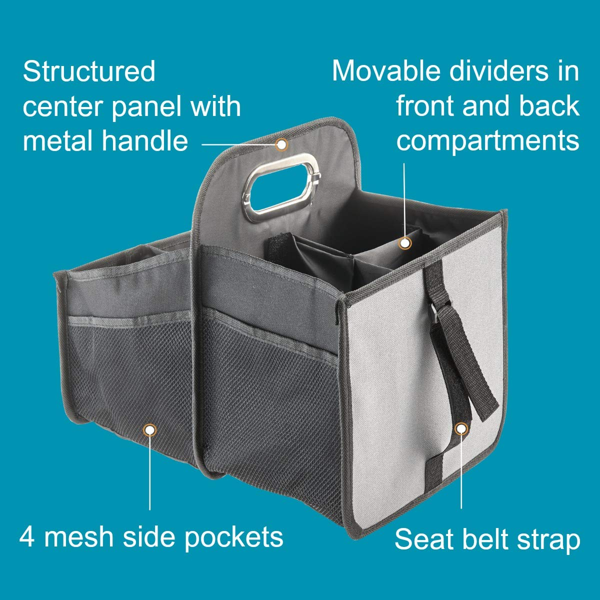 TALU2 High Road Car Seat Organizer with Movable Dividers Talus 4350408209