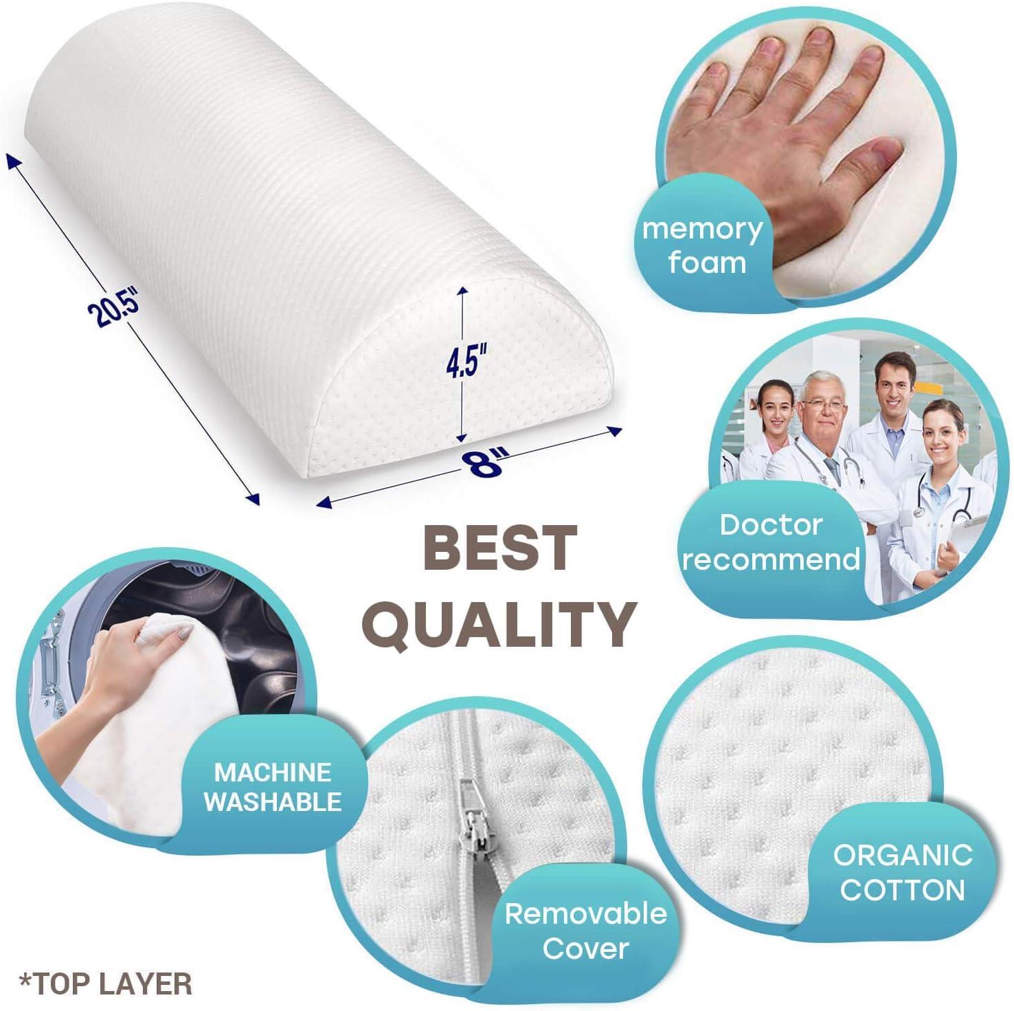 BeautifulLife Back Pain Relief Memory Foam Pillow
