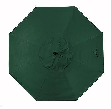 California Umbrella Replacement Canopy Cover in Sunbrella Forest Green Umbrella 9u0027 Round  sc 1 st  Amazon.com & Amazon.com : California Umbrella Replacement Canopy Cover in ...