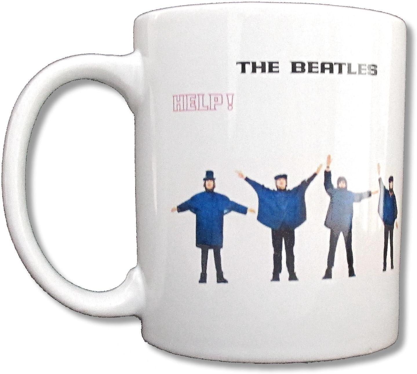 Beatles Help! White Ceramic Collectible Coffee Mug