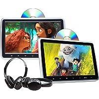 Eonon 2021 Newest 10.1 Inch DVD Player Dual Screen Car Headrest DVD Player Universal Vehicle Headrest Monitor Portable…