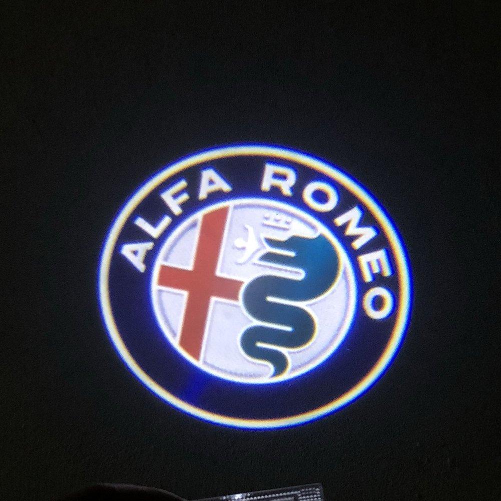 Grolish 2 Piece Cree Logo Projector Car Door Led Lighting Alfa Romeo Shadow Light For