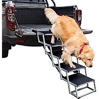 Rampas de perro sin marca con 5 escaleras, marco de aluminio actualizado para mascotas para SUV, coches, camas altas…