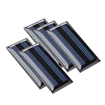 5Pcs 2V 50mA Poly Mini Round Solar Cell Panel Module DIY Light Toys Charger with