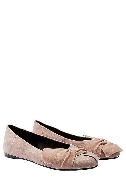 next Mujer Zapatos Zapatillas Estilo Bailarinas Francesitas Adorno De Lazo Frontal: Amazon.es: Zapatos y complementos