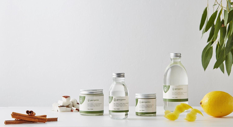 GEORGANICS - Dentífrico Natural Remineralizante con Aceite de Coco - Árbol de Te 60ML -GEORGANICS- - GEOTEA60: Amazon.es: Alimentación y bebidas