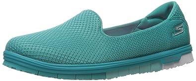 Skechers Performance Women's Go Mini Flex Admire Walking Shoe,Teal,5 ...