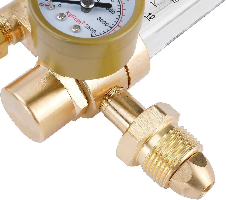 Full Copper BTSHUB Argon CO2 Flowmeter and Regulator Gauge Mig Tig CGA580 0 to 60 CFH Welding Gas Flow Meter